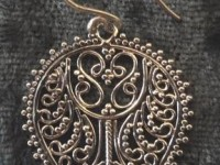 Sterling Silver Tear Drop Shaped Filigree Earrings