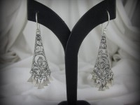 Sterling Silver Filigree Dangle Earrings