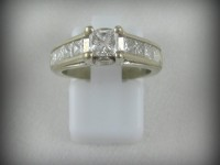 14kt White Gold Ring with 1ct Diamond