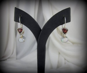 Garnet and Opal Earrings BA7166