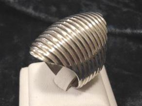 Sterling Silver Ribbed Ring
