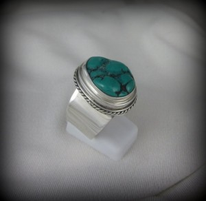 Rough Cut Turquoise Ring BA10191