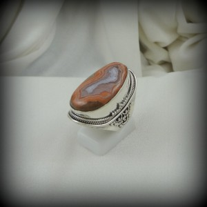 RJ4312 Tepee Canyon Agate Ring