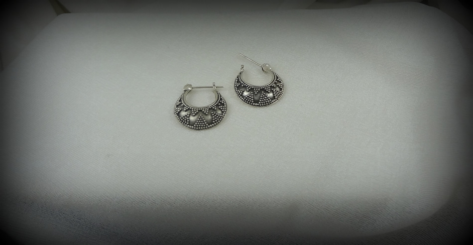 Granulation Hoop Earrings