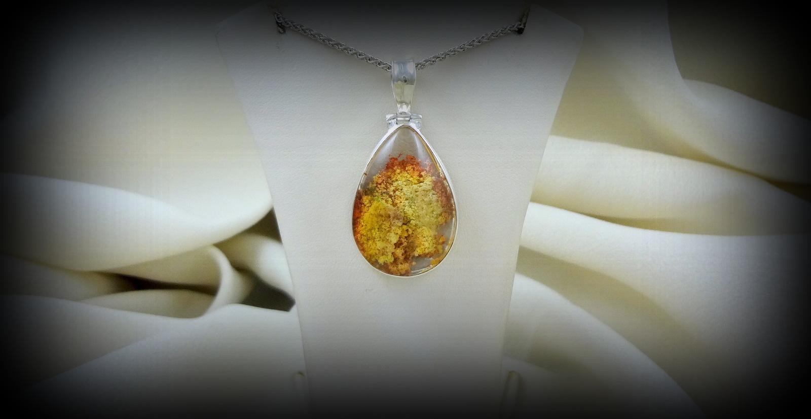 Yellow Lodolite Pendant