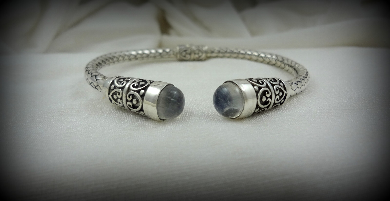 Hinged Moonstone Bracelet