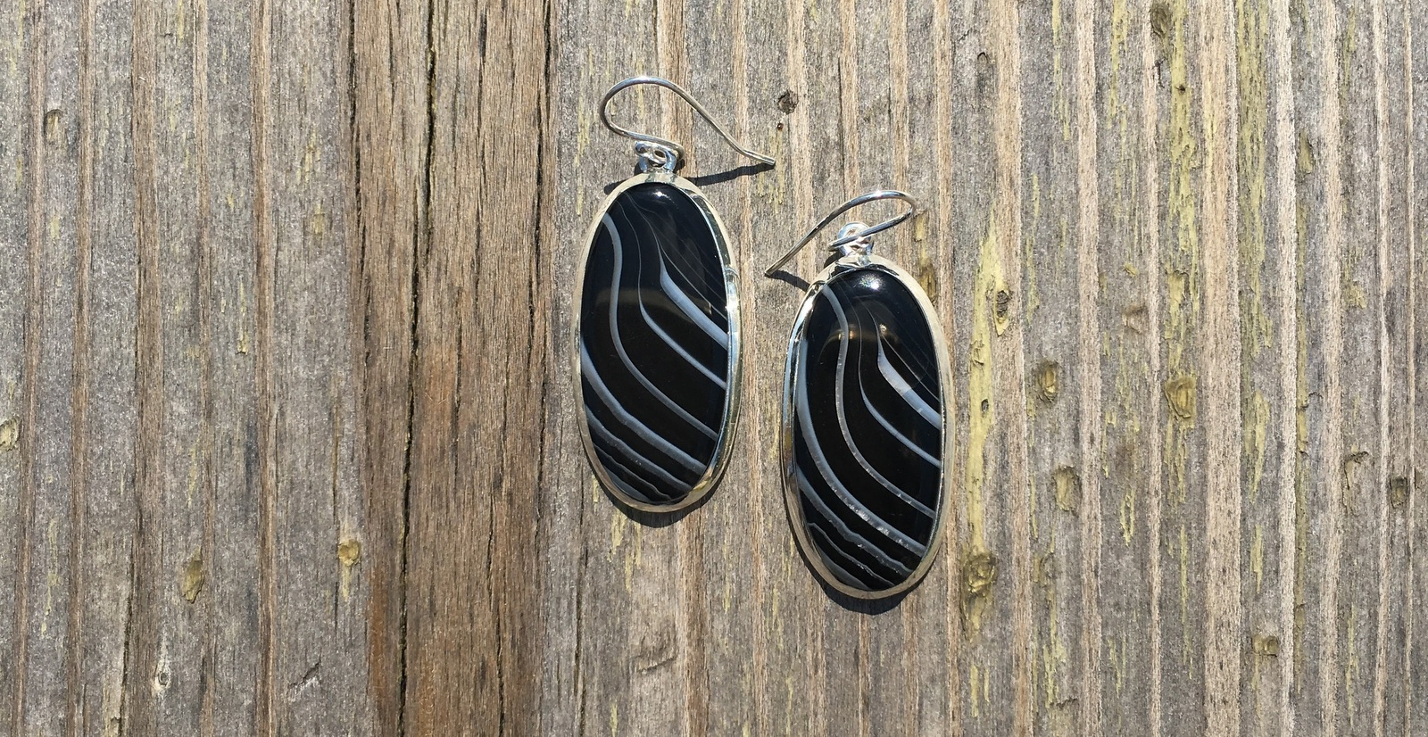 Oval Sardonyx Earrings
